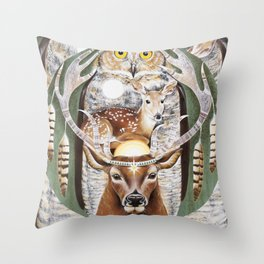 Heart of a Shaman Throw Pillow