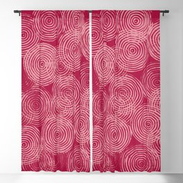 Radial Block Print in Magenta Blackout Curtain
