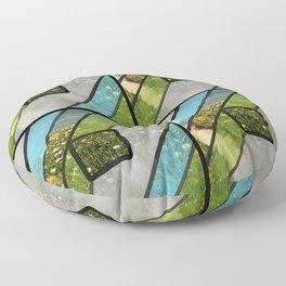 Summer Ocean Glass Floor Pillow