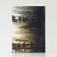 sunrise Stationery Cards featuring Sunrise Forest by Kevin Russ