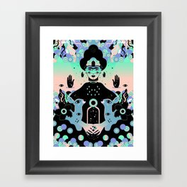 Las lunas de Frida Framed Art Print