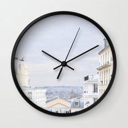 Urban landscape from Paris Wall Clock