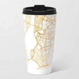 NEW YORK CITY NEW YORK CITY STREET MAP ART Travel Mug