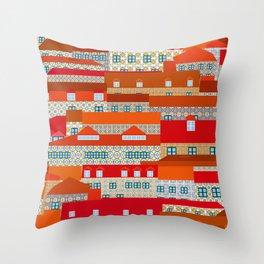 lisbon tiles Throw Pillow