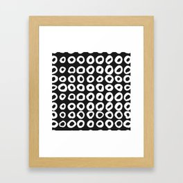 Pattern with hand-drawn ink, painted circles Framed Art Print