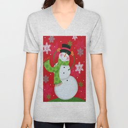 Happy Snowman Unisex V-Neck
