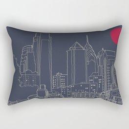 Philly Blueprint Rectangular Pillow