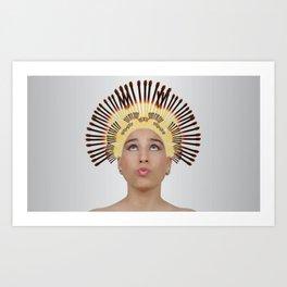 Assez des cheveux CASSANTS Art Print