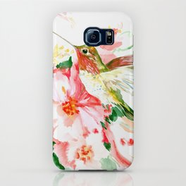 Hummingbird, Hawaiian Design, Hibiscus and Hummingbird iPhone Case