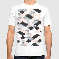 Pastel Scheme Geometry Mens Fitted Tee MEDIUM White