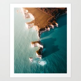 Old Harry Rocks, Dorset, England Art Print
