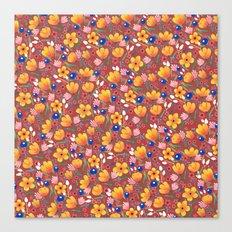 Orange Flowers 2 Canvas Print