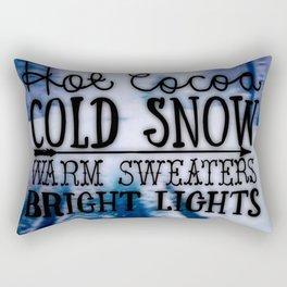 Winter love Rectangular Pillow