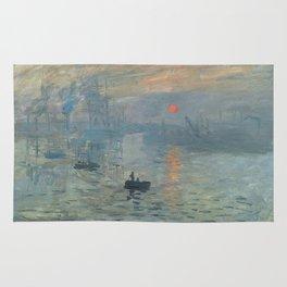 Claude Monet's Impression, Soleil Levant Rug
