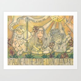 flower children Art Print
