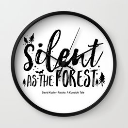 Silent as the forest Wall Clock