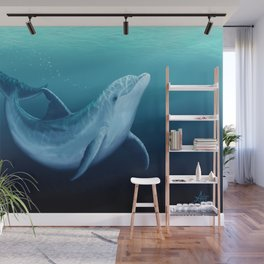 """Riversoul Blue"" by Amber Marine ~ Dolphin Art, (Copyright 2014) Wall Mural"