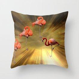 Flamingo Theatre Throw Pillow