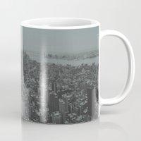 manhattan Mugs featuring Manhattan by Leah Flores