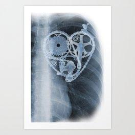 bike lover X-ray Art Print