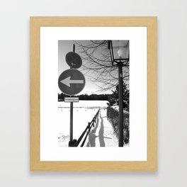 Garmish Contrast Framed Art Print
