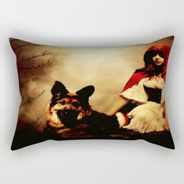 Red and Her Wolf Rectangular Pillow