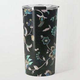 Classic vintage teal pink green bohemian floral Travel Mug