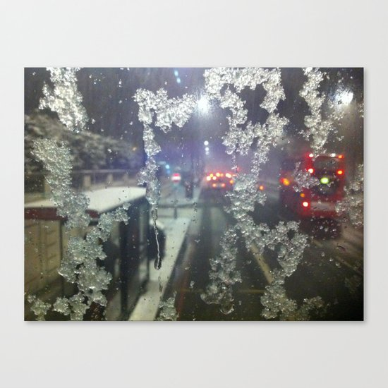 Snow in London Canvas Print