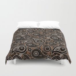 Coffee Brown Paisley Pattern Duvet Cover