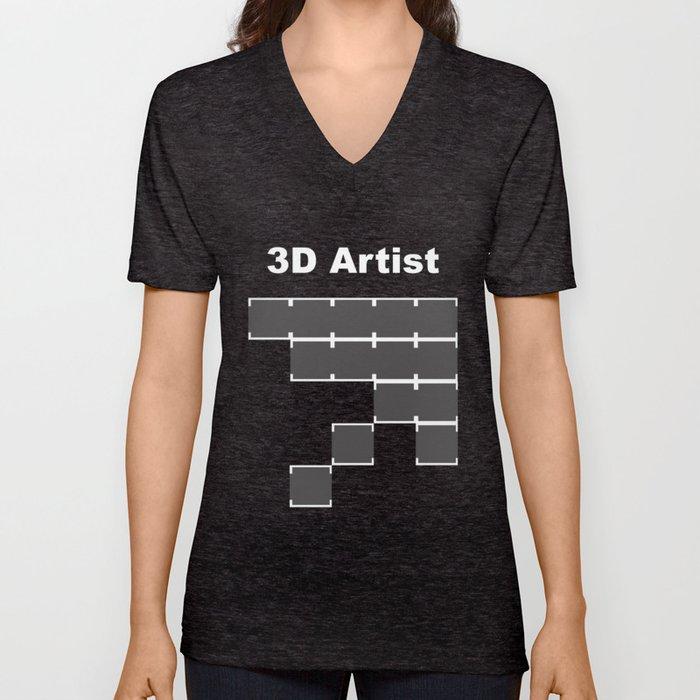 3D Artist Unisex V-Neck by khaledalkayed  651251c37
