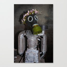 Household robot with gasmask Canvas Print