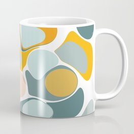 Abstract Pebble Tower in Soft Blue and Yellow Coffee Mug