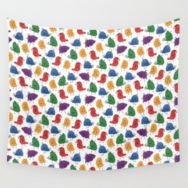 Doodle Birds Pattern Wall Tapestry