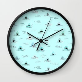 Sharkhead - Shark Pattern Wall Clock