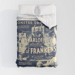 Bride of Frankenstein, vintage horror movie poster Comforters