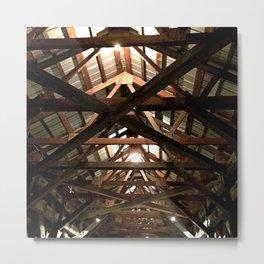 Rooftop Skeleton Metal Print