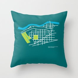Brownes Addition / Peaceful Valley, Spokane Throw Pillow
