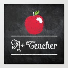 A+ Teacher Canvas Print