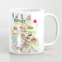 ripley Mugs featuring Ripley Fall Fair Map by Antje MO