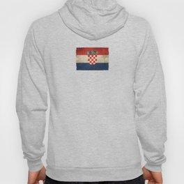 Old and Worn Distressed Vintage Flag of Croatia Hoody