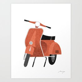 Motor scooter Art Print