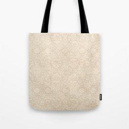 Shabby Champagne Damask Pattern Tote Bag