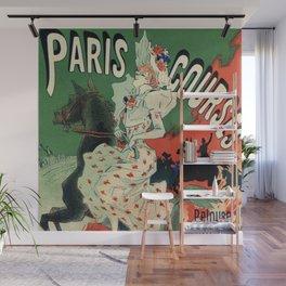 Paris horse races by Chéret Wall Mural
