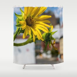 Yellow Flower in NYC Shower Curtain