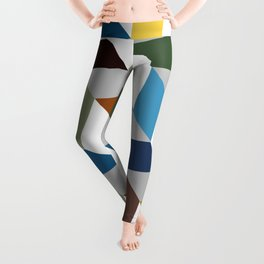 Abstract Art 19-13 fine art beauty colorful random Geometry Leggings