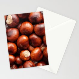 Shiny conkers Stationery Cards