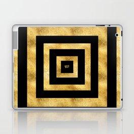 ART DECO SQUARES BLACK AND GOLD #minimal #art #design #kirovair #buyart #decor #home Laptop & iPad Skin