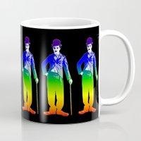 chaplin Mugs featuring Chaplin by PsychoBudgie