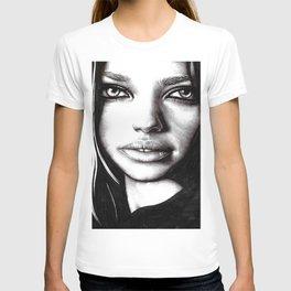 Beauty Model Photorealism Sketch 3 - adriana lima T-shirt