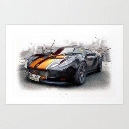 Lotus Exige GT3 Art Print